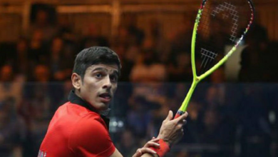 "Photo of Sourav Ghosal selected for ""outstanding performance of the year"" award by Asian Squash Federation"