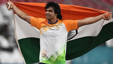Photo of Neeraj Chopra shatters own javelin throw national record at IGP