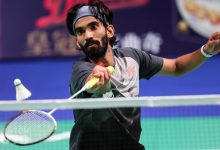 Photo of Kidambi Srikanth lone Indian survivor at BWF Denmark Open