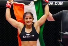 Photo of Ritu Phogat extends her unbeaten MMA record, wins her bout inside four minutes