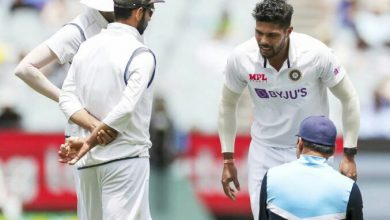 Photo of India vs Australia: Umesh Yadav taken for scans after suffering calf muscle