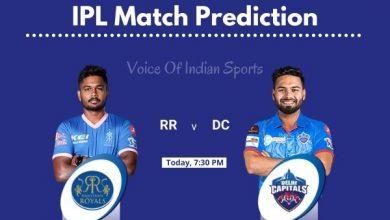 Photo of IPL Match Prediction : Rajasthan Royals vs Delhi Capitals Match Prediction