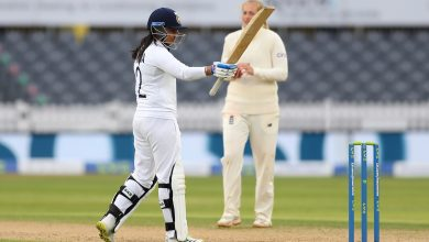 Photo of One-off Test: Wickets tumble but India Women reach 243/8 at tea on Day 4, lead by 78 runs