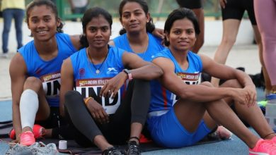 Photo of S Dhanalakshmi wins 100m dash, Dutee Chand fourth; injured Hima Das on verge of missing Olympics